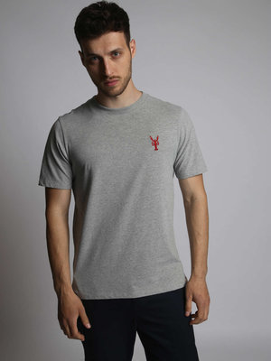 HYMN London 'LOBSTER' T-Shirt - Grey Marl