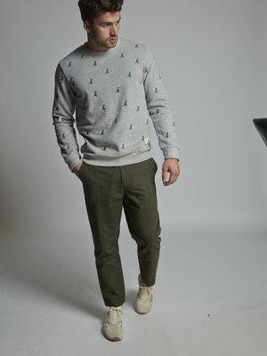 HYMN London HYMN 'REX 2' T-Rex Embroidered Grey Sweatshirt