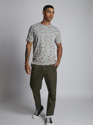 HYMN London 'HERD' T-Shirt - Grey Marl