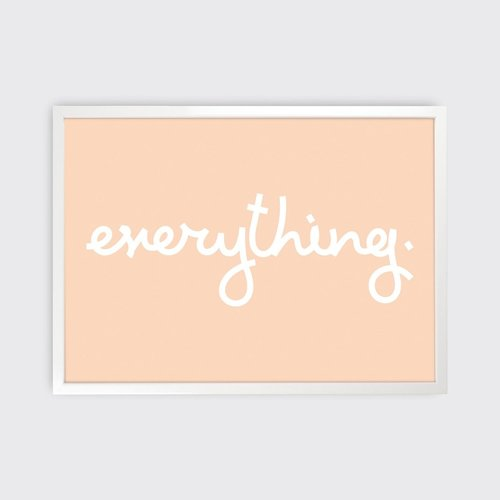 Tom Pigeon 'Everything' Print - 700x500
