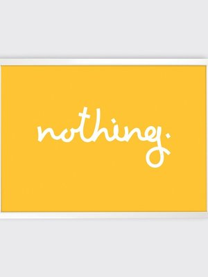 Tom Pigeon 'Nothing' Print - 700x500