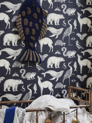 ferm LIVING Katie Scott Animals Wallpaper