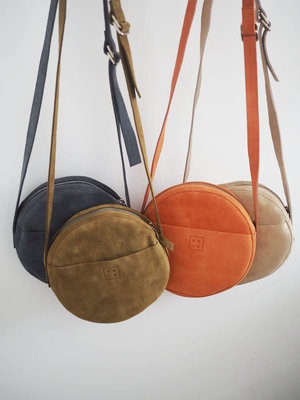 Rosie Drake Knight The 'Claire' Circle Bag - Coral