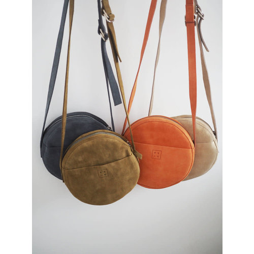 Roake The 'Claire' Circle Bag - Coral