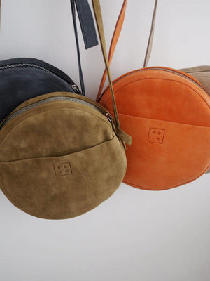 Rosie Drake Knight The 'Claire' Circle Bag - Charcoal