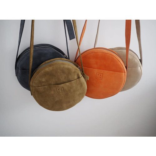 Roake The 'Claire' Circle Bag - Charcoal