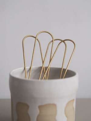 Roake The 'Lizzy' Brass Hairpin - Straight