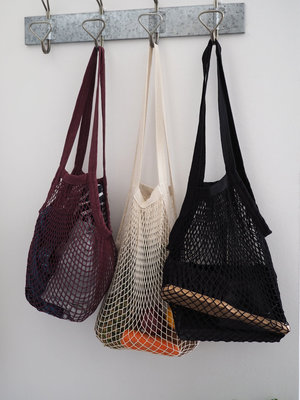 Roake The 'Vicky' Mesh Shopping Bag - Mulberry