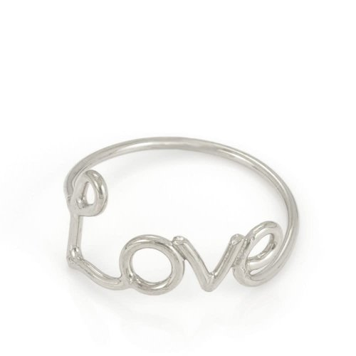 Laura Gravestock Written Love Ring - Sterling Silver