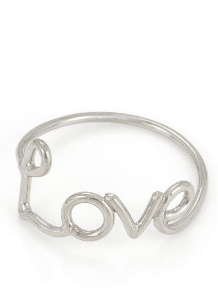 Laura Gravestock Laura Gravestock Written Love Ring - Sterling Silver