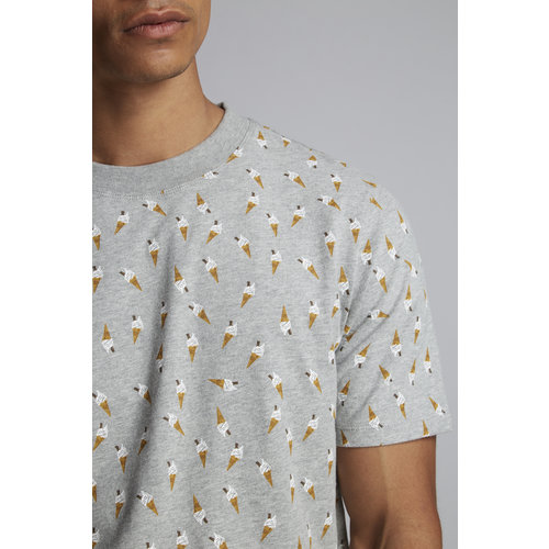 HYMN London 'MEAD-2' All Over Ice Cream Print T-Shirt - Grey