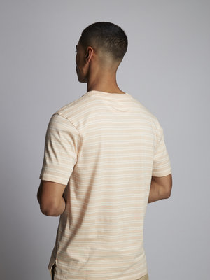 HYMN London 'FASTLANE' Two Stripe Pink T-Shirt
