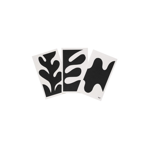 ferm LIVING Leaf Dish Cloths - Black - Set of 3
