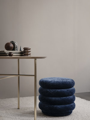ferm LIVING Pouf Round - Faded Velvet - Various Colours