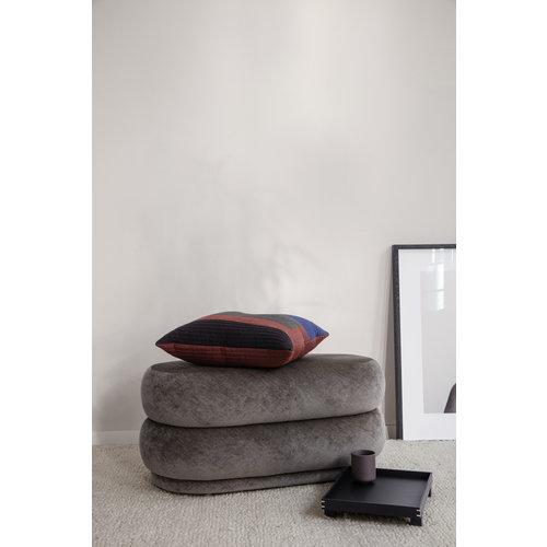 ferm LIVING Pouf Oval - Faded Velvet - Various Colours