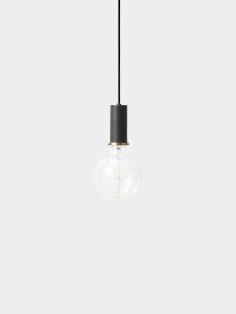 ferm LIVING ferm LIVING Lighting - Socket Pendant Low - Black