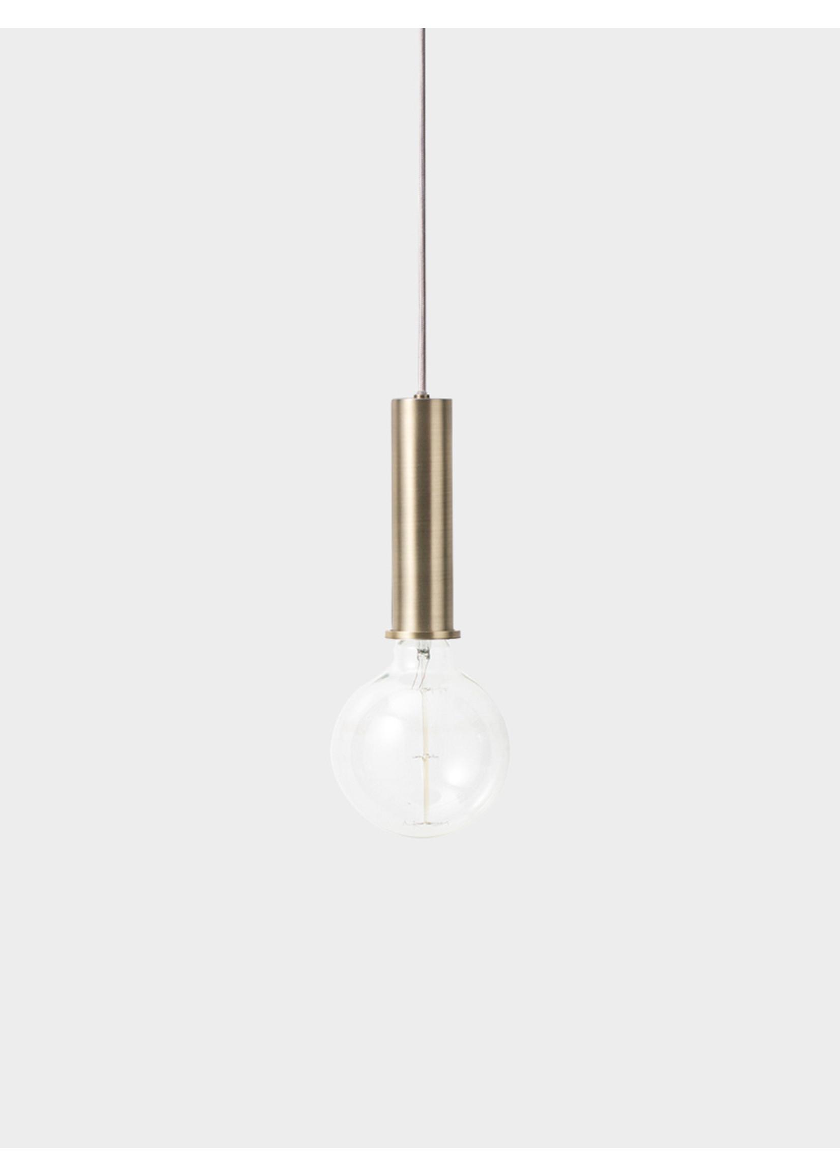 ferm LIVING ferm LIVING Lighting - High Brass Pendant & Tall Opal Shade
