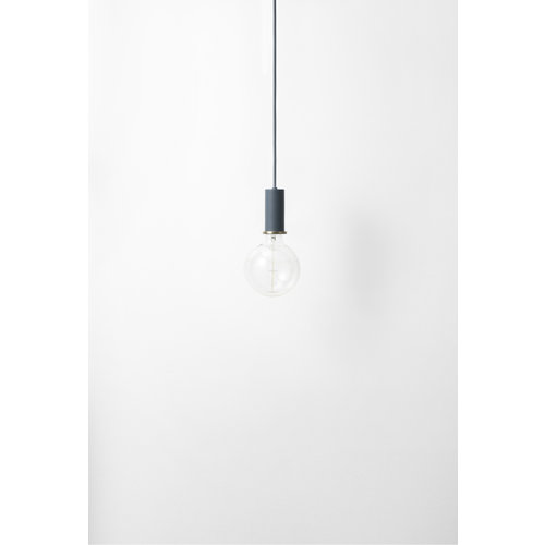 ferm LIVING Socket Pendant Low - Dark Blue