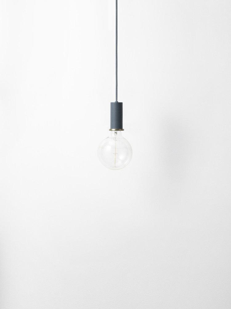 ferm LIVING ferm LIVING Lighting - Socket Pendant Low - Dark Blue
