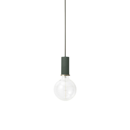 ferm LIVING Socket Pendant Low - Dark Green