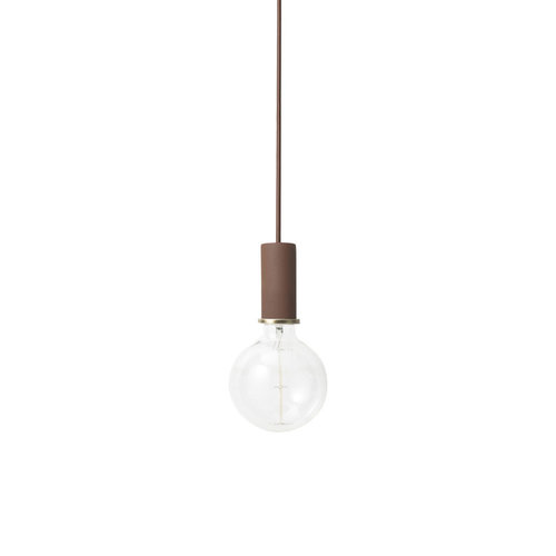 ferm LIVING Socket Pendant Low - Red Brown