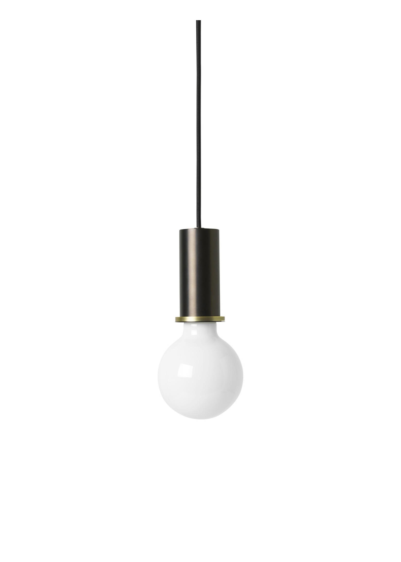 ferm LIVING ferm LIVING Lighting - Socket Pendant Low - Black Brass