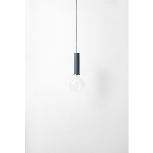 ferm LIVING Socket Pendant High - Dark Blue