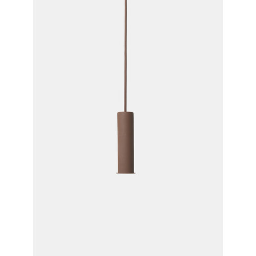 ferm LIVING Socket Pendant High - Red Brown