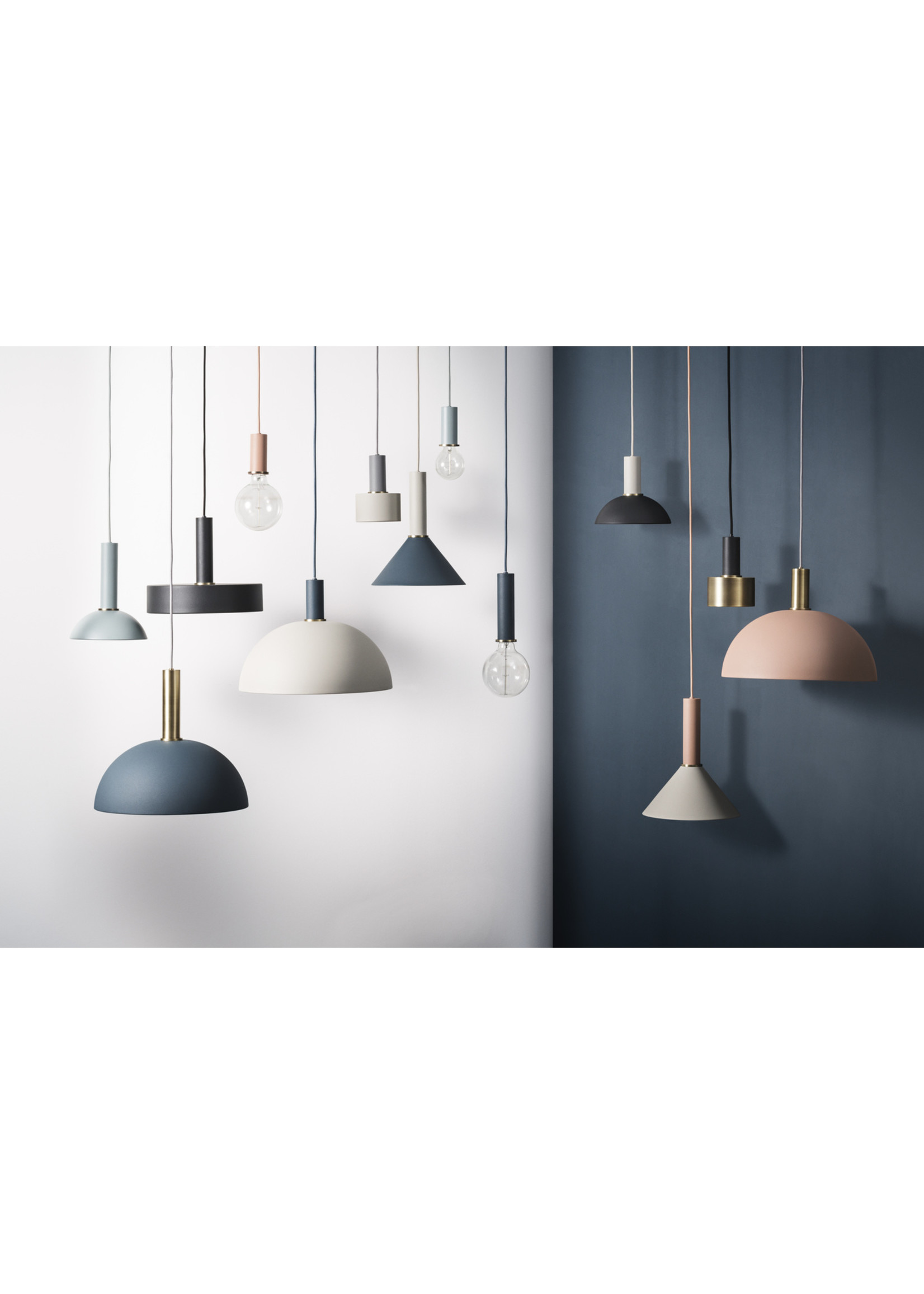 ferm LIVING ferm LIVING Lighting - Socket Pendant High - Light Grey