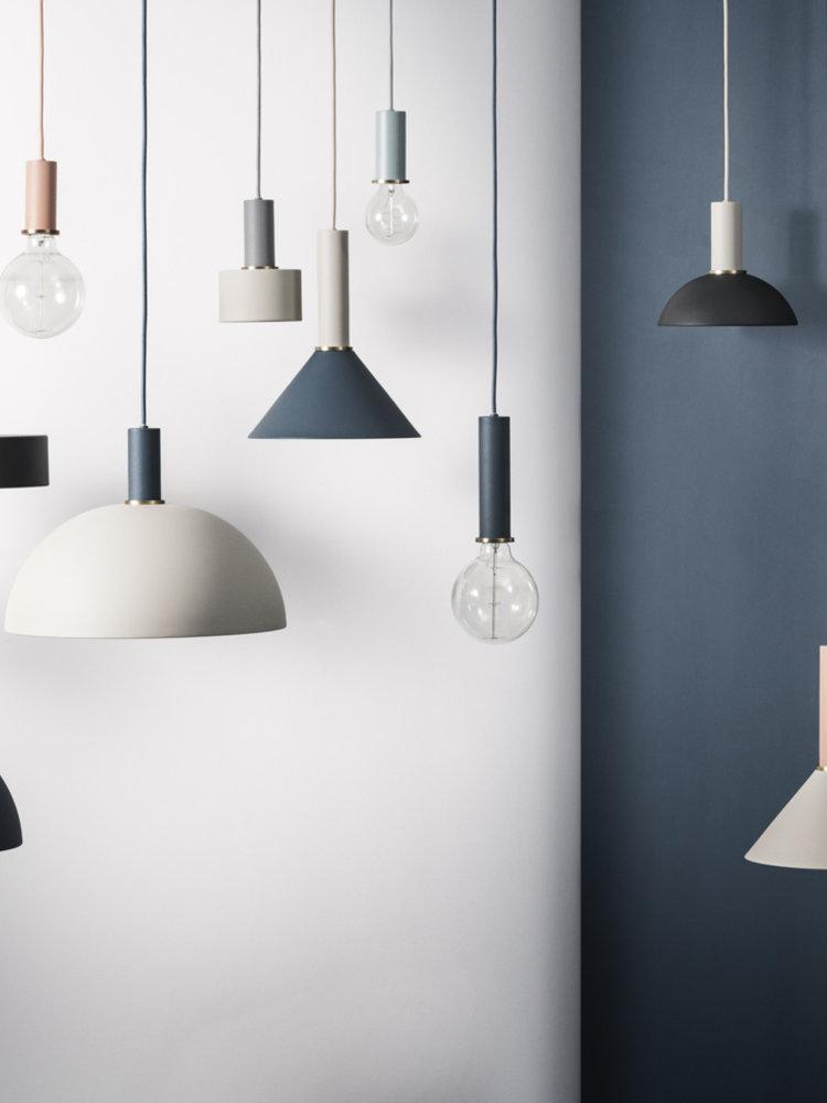 ferm LIVING ferm LIVING Lighting - Socket Pendant Low - Light Grey