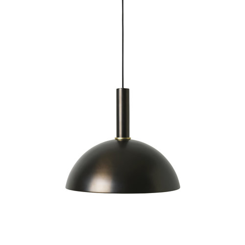 ferm LIVING Black Brass Tall Pendant & Dome Shade