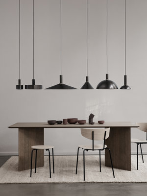 ferm LIVING ferm LIVING Lighting - Black Brass Tall Pendant & Dome Shade
