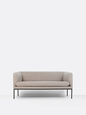 ferm LIVING Turn Sofa - 2 Seater - Natural Cotton/Linen