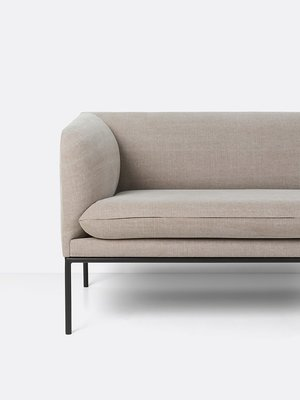 ferm LIVING ferm LIVING Turn Sofa - 2 Seater - Natural Cotton/Linen