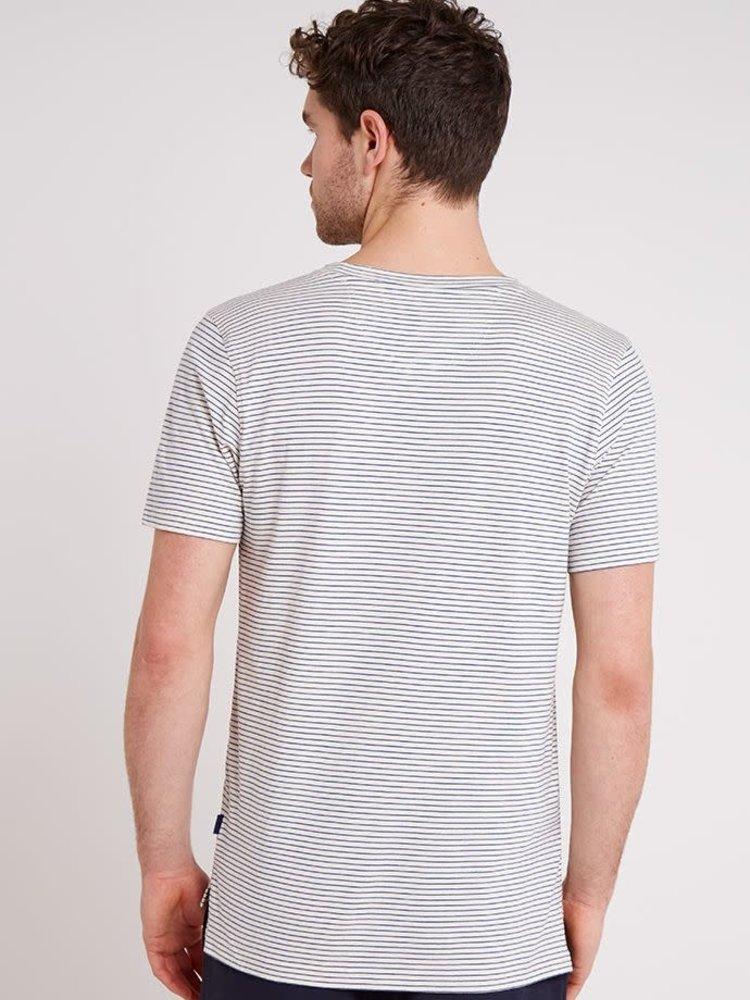 HYMN London HYMN 'MIDLANE' Blue Striped T-Shirt