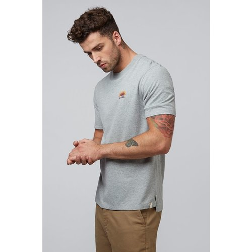 HYMN London 'RISING' Embroidered Logo Grey T-Shirt