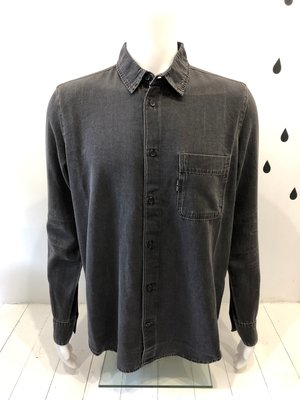 Cheap Monday Fit Denim shirt Crinkle Black