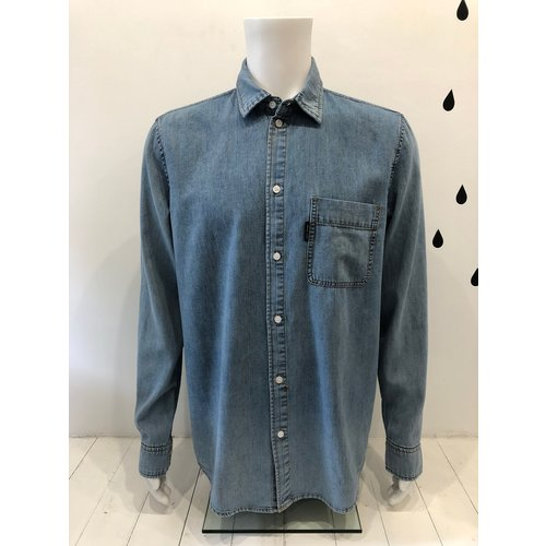 Cheap Monday Fit Denim shirt Hex Blue