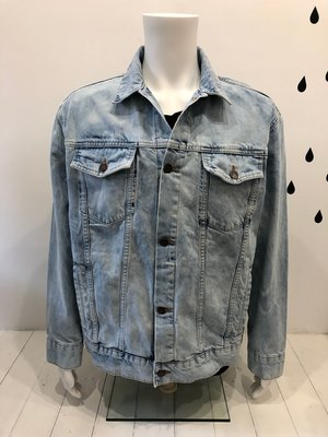Cheap Monday Upsize Denim Jacket Blue Spider