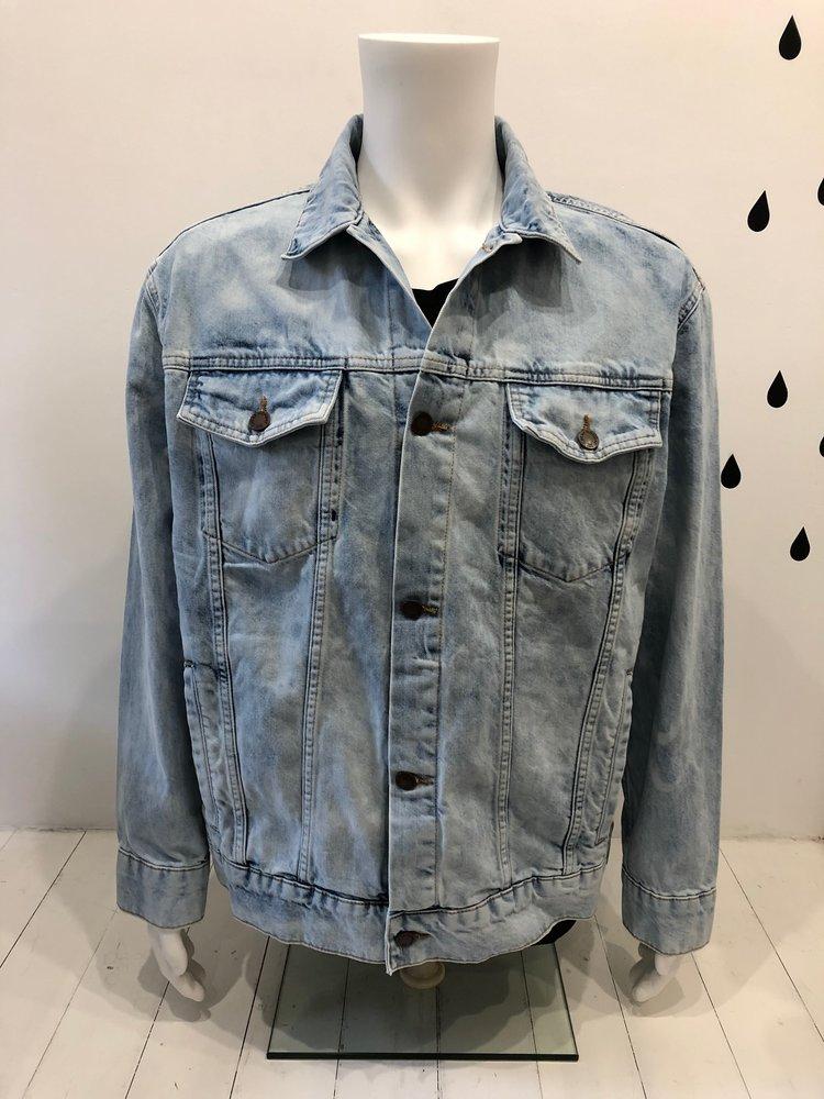 Cheap Monday Cheap Monday Upsize Denim Jacket Blue Spider