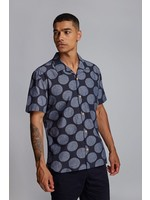 'SPOT' Indigo Printed Spot Resort Shirt