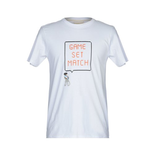 HYMN London 'MATCH' Tennis Print White T-Shirt