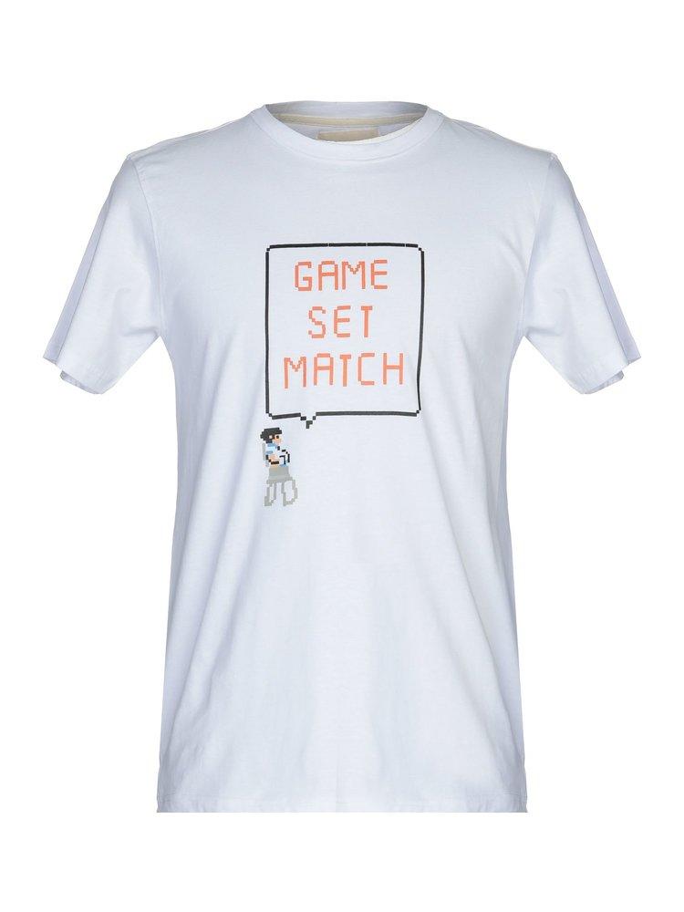 HYMN London HYMN 'MATCH' Tennis Print White T-Shirt