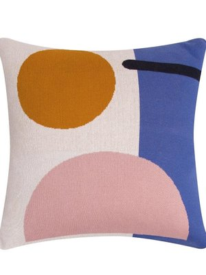 Sophie Home Bleecker Blue Knitted Cushion
