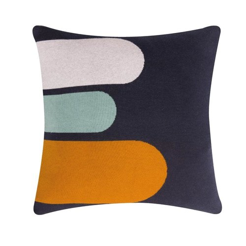 Sophie Home Porter Navy Knitted Cushion