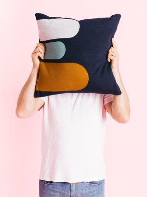 Sophie Home Sophie Home Porter Navy Knitted Cushion