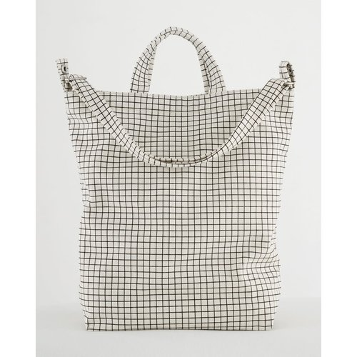 Baggu Duck Canvas Bag - Natural Grid