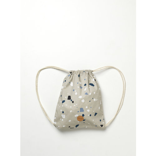 ferm LIVING Kids Gym Bag - Terrazzo Grey