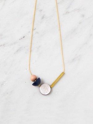 Wolf & Moon Elara Midnight Blue Necklace