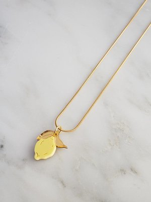 Wolf & Moon Mini Lemon Necklace
